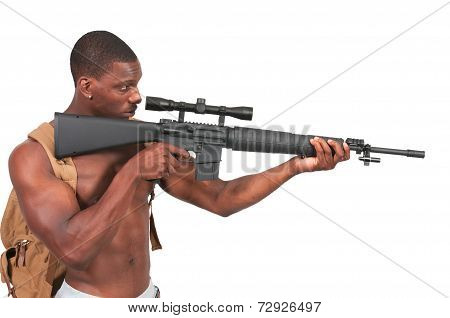 Man With Assault Rifle