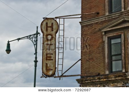 Antique Hotel Sign
