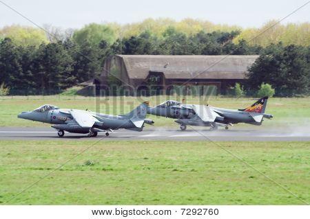 Raf Harriers Takeoff