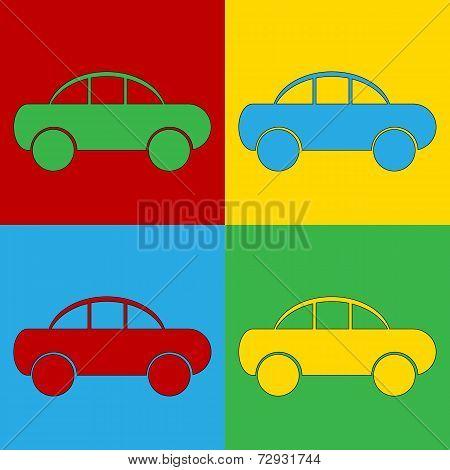Pop Art Car Symbol