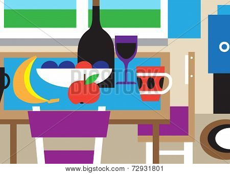 still life - vector cartoon
