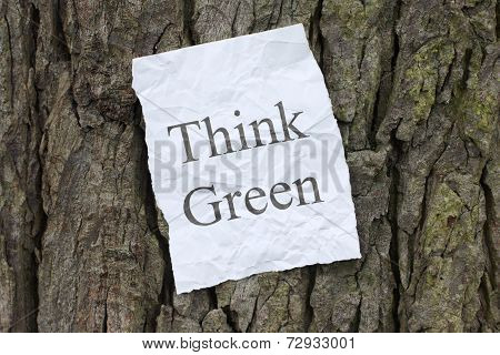 Think Green Message