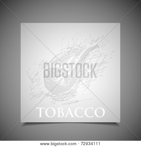 Vector Illustration Of A Hand-drawn Tobacco Pipe