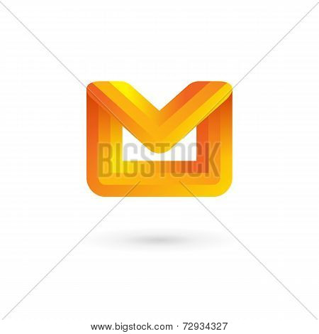E-mail Envelope Letter M Logo Icon Design Template. Colorful Sign.