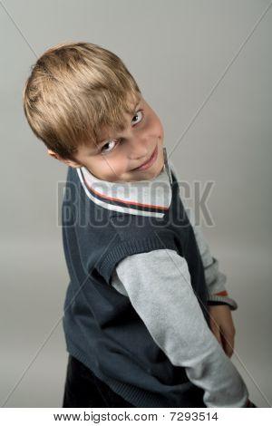 Teenager Boy Closeup