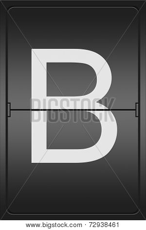 Letter B On A Mechanical Leter Indicator