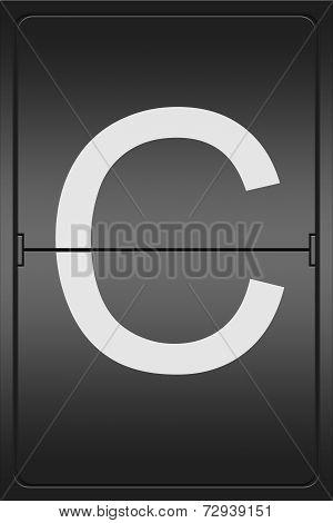 Letter C On A Mechanical Leter Indicator
