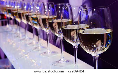 Wine glasses nightclub