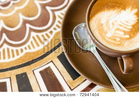 Coffee On Beautiful  Table Background