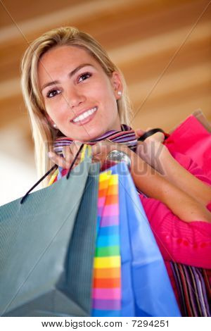Beautiful Shopping Woman