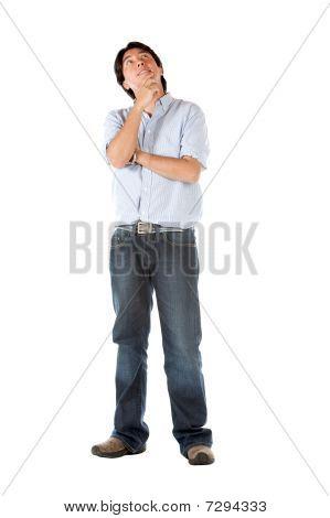 Pensive Man Portrait