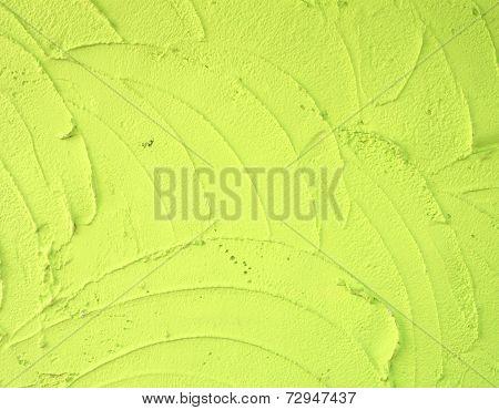 Green Plaster Wall