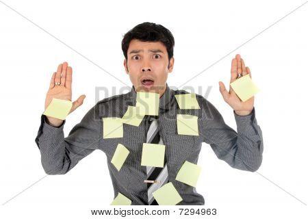 Asian Stressed Businessman