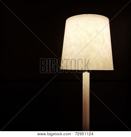 Table Lamp On Dark Background