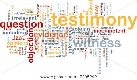 Testimony Evidence Background Concept