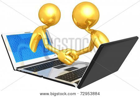 Gold Guys Online Handshake