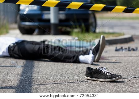 Male Victim Of Car Accident