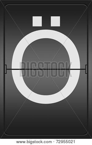 Letter O On A Mechanical Leter Indicator