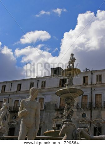 Fountain And Palace, Italy