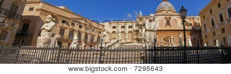 Palermo Square Panorama, Sicily, Italy