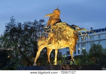 Genghis Khan Statue, London