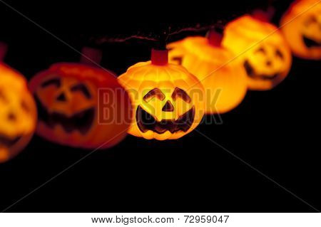 Pumpkin Lights Hanging