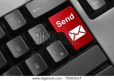 Keyboard Red Button Send Mail