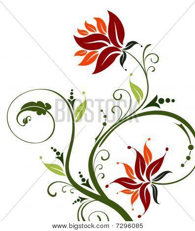 Red Flower Pattern