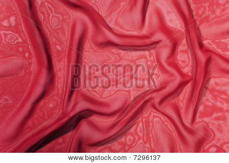 Texture Of A Dark Red Satin Silk