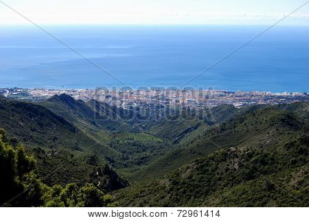 View of Marbella and sea.