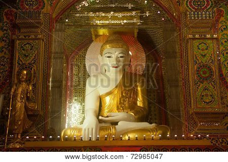 Sitting Buddha In Sutaungpyai Pagoda,mandalay Hill.