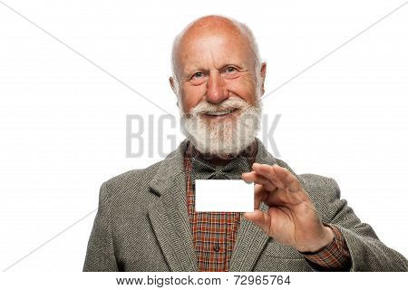 Old Man With A Big Beard And A Smile