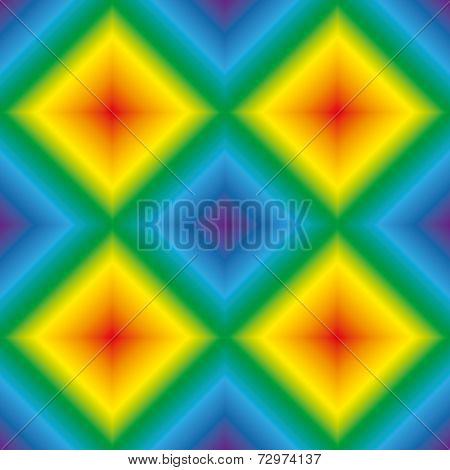 Rainbow Rhombus Seamless Texture