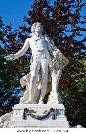 Estatua de Wolfgang Amdeus Mozart en Burggarten