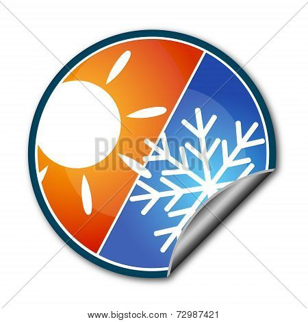 Sticker For Air Conditioner Vector