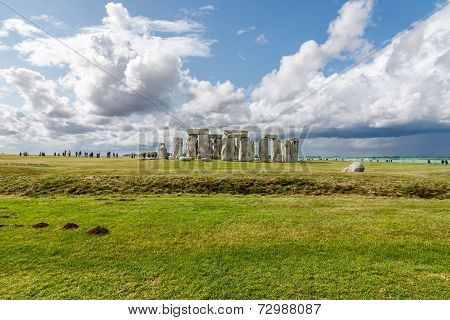 Stonehenge - An Ancient Prehistoric Stone Monument Near Salisbury, Wiltshire, Uk