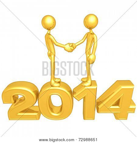 Gold Guy Business Handshake 2014