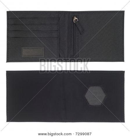 Carteira de titular de cartão preto
