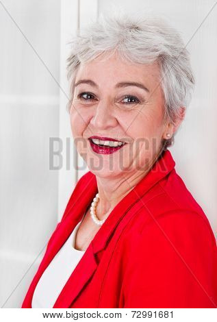 Portrait of elderly business woman