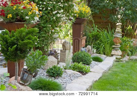 Garden design with flowers