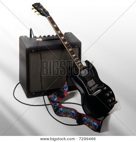 Electric Guitar And Combo