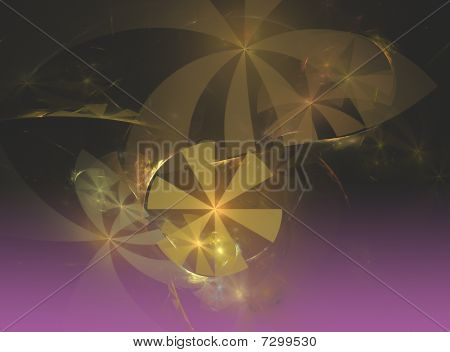 Abstract Fractal Background Fans