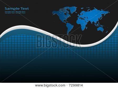 Fundo de negócios com o mapa do mundo