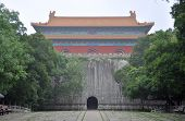 stock photo of mausoleum  - Ming Tower of Ming Xiaoling Mausoleum in Purple Mountain - JPG