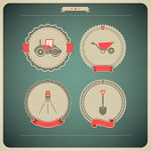 stock photo of theodolite  - 4 icons from Construction Industry theme from left to right top to bottom - 