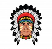 image of apache  - apache head Editable  - JPG