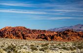 picture of valley fire  - Colorful landscape in Valley of Fire State park in Nevada - JPG
