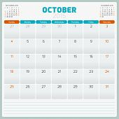 pic of tuesday  - Calendar planner 2015 template week starts sunday - JPG