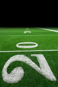 Football field background poster