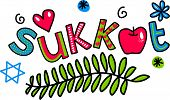 pic of sukkot  - Simple hand drawn doodle text - JPG